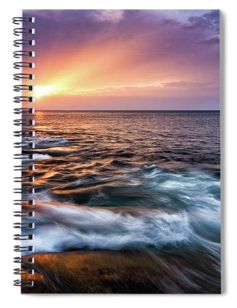 Sun Rays, Halibut Pt. Rockport Ma. Spiral Notebook