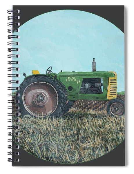 Sun Rays Tractor Spiral Notebook