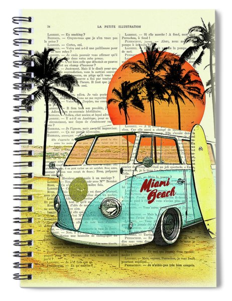 Sun Sea Beach And Fun Spiral Notebook