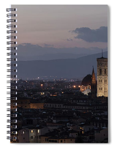Sun Setting In Florence Italy  Spiral Notebook