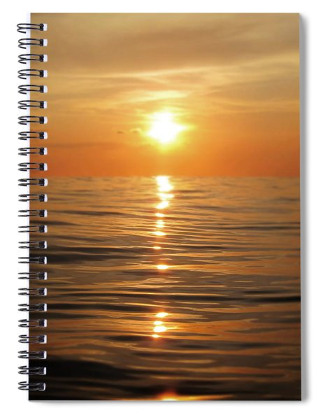 Sun Setting Over Calm Waters Spiral Notebook