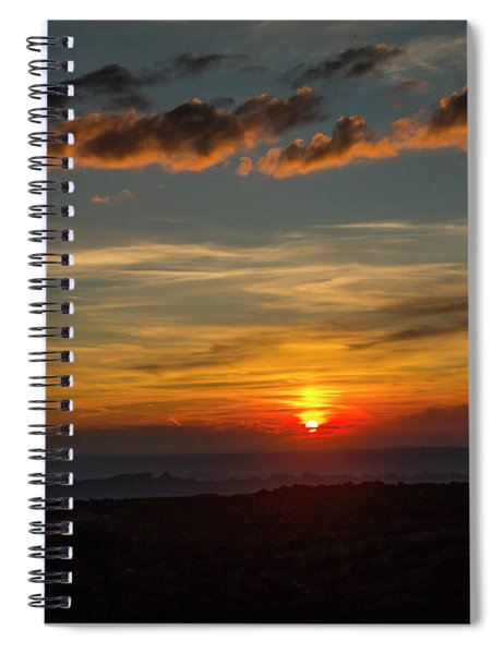 Sun Settling Into The Canyons Spiral Notebook