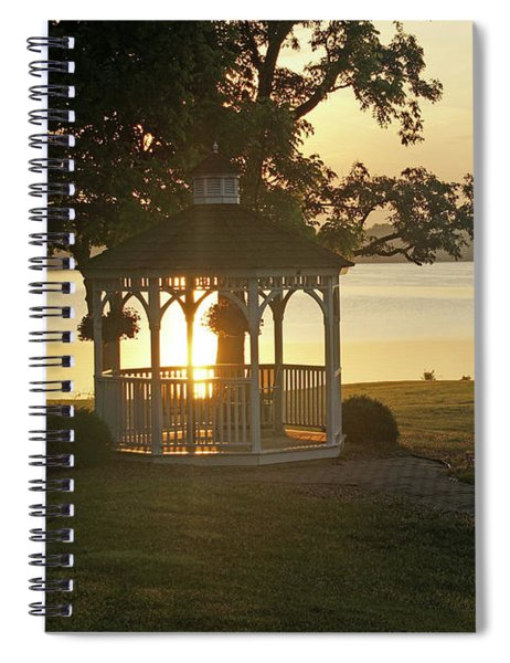 Sun Shining Through The Gazebo Spiral Notebook