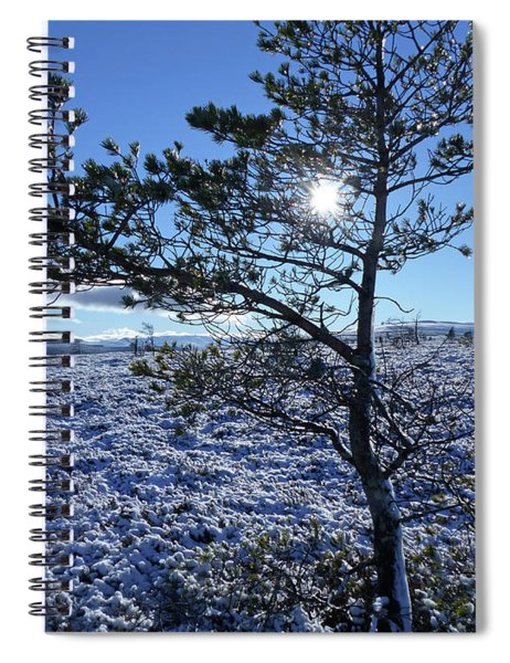 Sun, Snow And Ice - Hills Of Cromdale Spiral Notebook