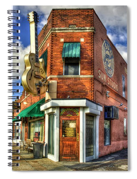 Sun Studio Rock N Roll Birthing Place Memphis Tennessee Art Spiral Notebook