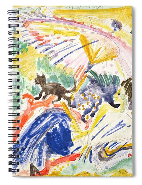 Sunbathing Spiral Notebook