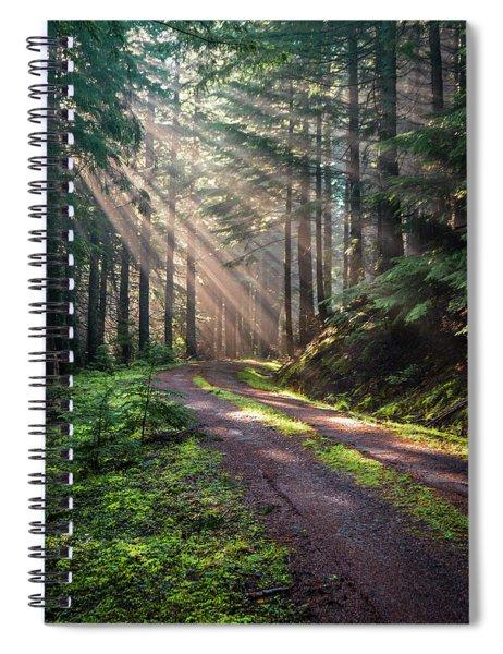 Sunbeam In Trees Portrait Spiral Notebook