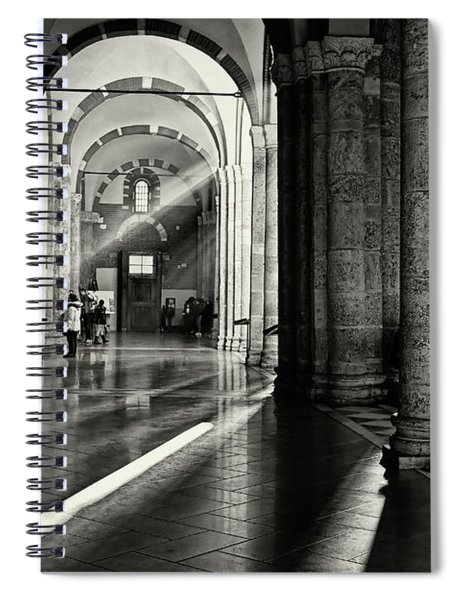 Sunbeam Inside The Church Spiral Notebook