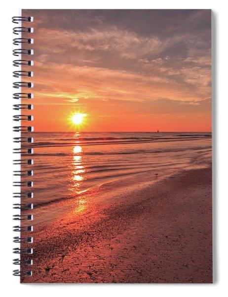Sunburst At Sunset Spiral Notebook