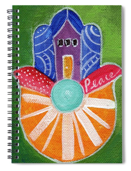 Sunburst Hamsa Spiral Notebook