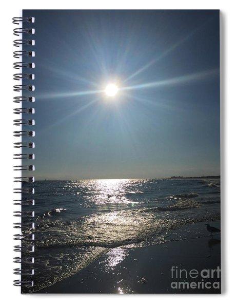 Sunburst Reflection Spiral Notebook