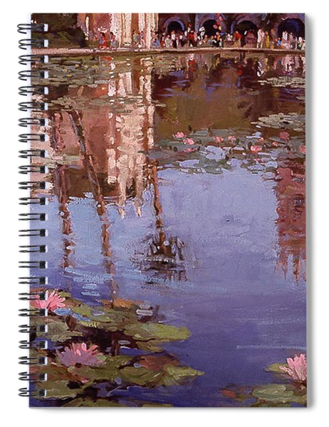 Sunday Reflections - Water Lilies Spiral Notebook