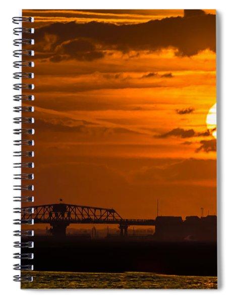 Sundown On The Charleston Coast  Spiral Notebook