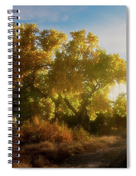 Sundown, Rio Grande Bosque, New Mexico Spiral Notebook