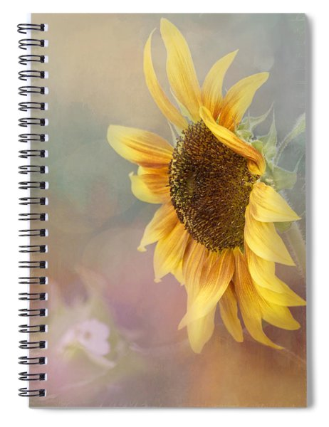 Sunflower Art - Be The Sunflower Spiral Notebook