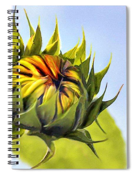 Sunflower Bud Spiral Notebook