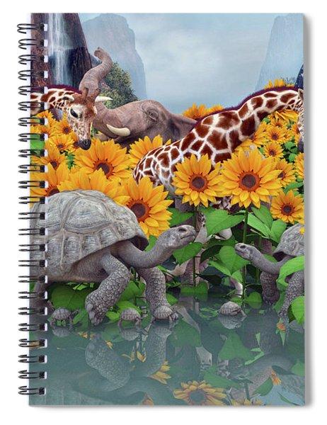 Sunflower Daydream II Spiral Notebook
