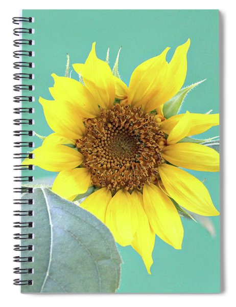 Sunflower In The Summer Time Spiral Notebook
