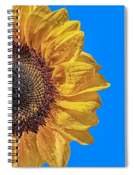 Sunflower In The Sun Spiral Notebook
