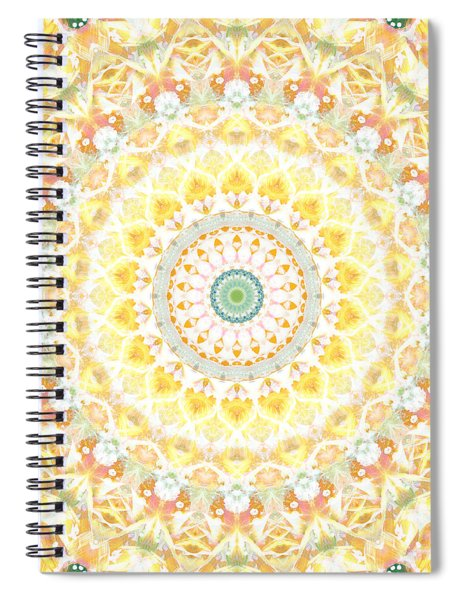 Sunflower Mandala- Abstract Art By Linda Woods Spiral Notebook