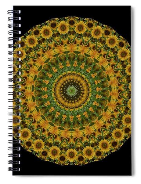 Sunflower Mandala Spiral Notebook