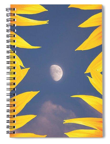 Sunflower Moon Spiral Notebook
