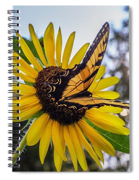 Sunflower Swallowtail Spiral Notebook