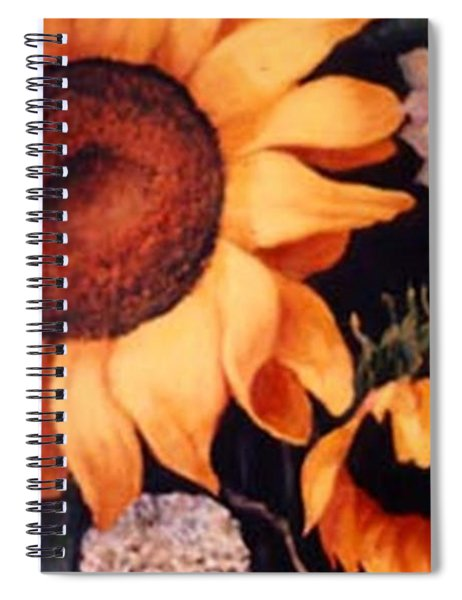 Sunflowers And More Sunflowers Spiral Notebook