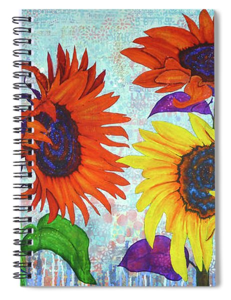 Sunflowers For Elise Spiral Notebook