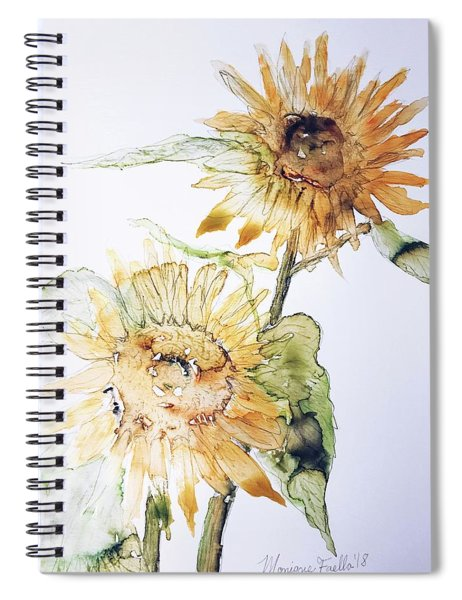 Sunflowers II Uncropped Spiral Notebook