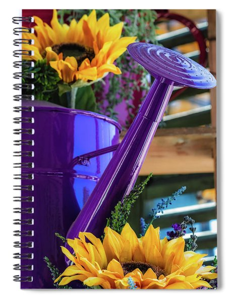 Complementary Sunflowers Spiral Notebook