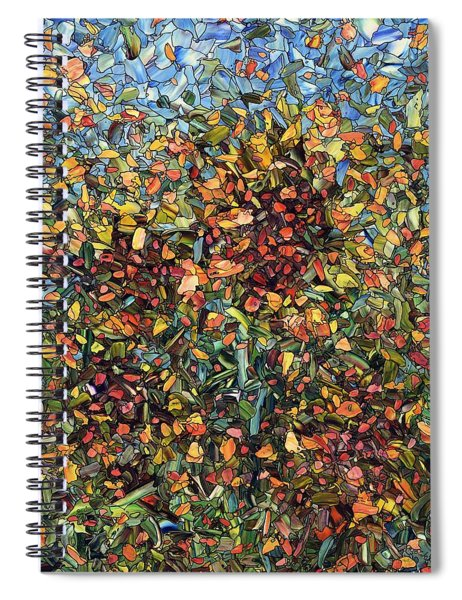 Spiral Notebook featuring the painting Sunflowers by James W Johnson