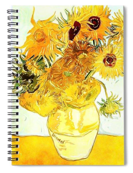 Sunflowers Van Gogh Spiral Notebook