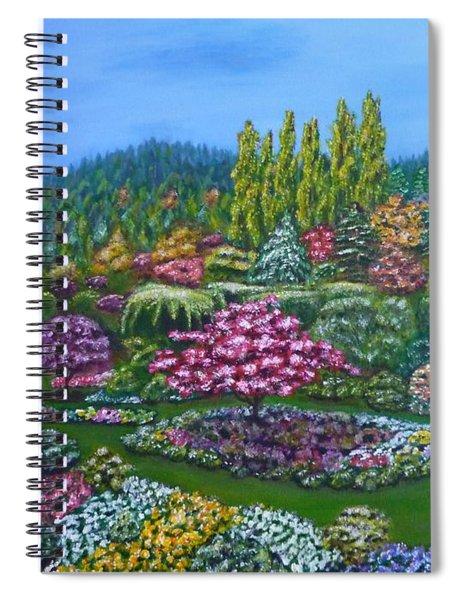 Sunken Garden Spiral Notebook