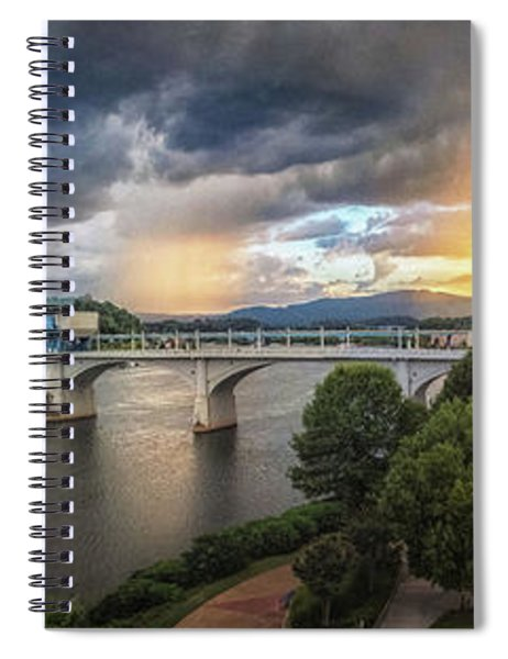 Sunlight And Showers Over Chattanooga Spiral Notebook