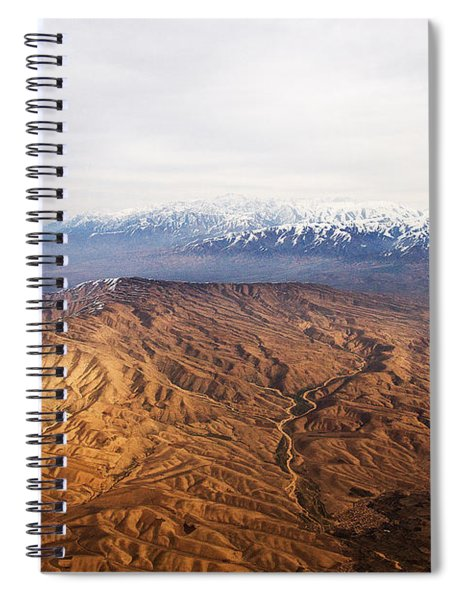 Sunlight And Snow-capped Peaks Spiral Notebook