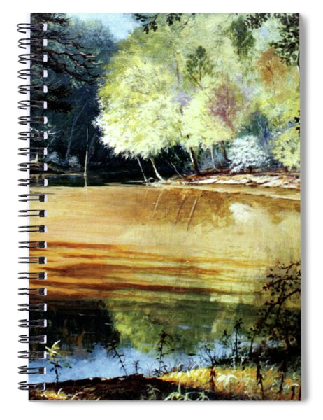 Sunlight On Village Creek Spiral Notebook