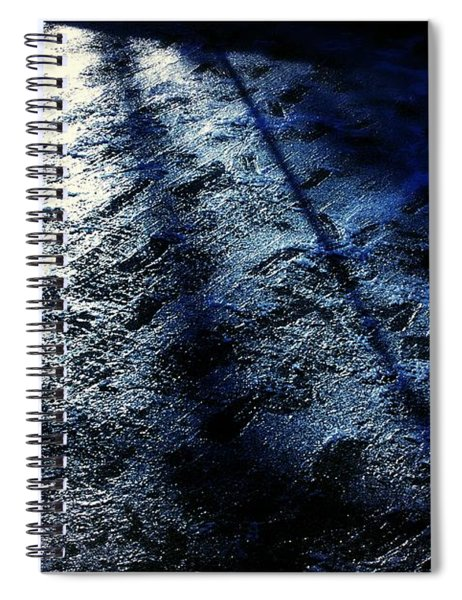 Sunlight Shadows On Ice - Abstract Spiral Notebook