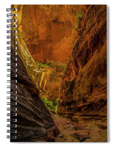 Sunlit Colors In The Slot Spiral Notebook