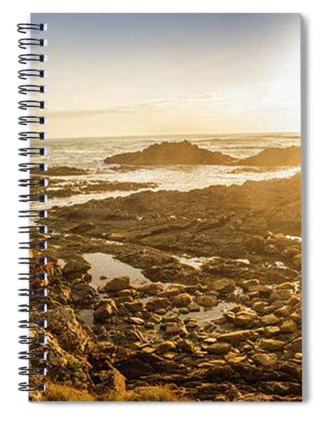 Sunlit Seaside Spiral Notebook