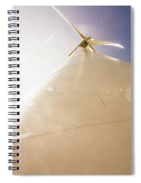 Sunlit Wind Power Spiral Notebook