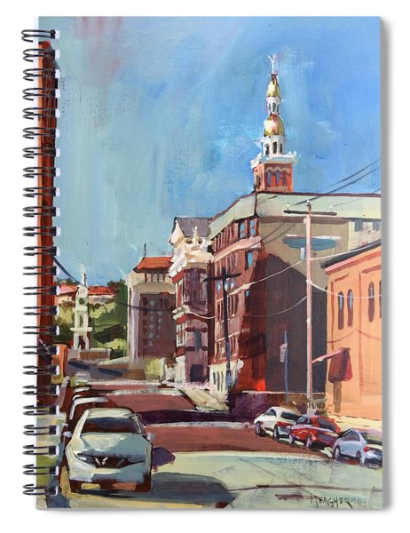Sunny Morning In Dubuque Spiral Notebook