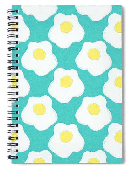 Sunny Side Up Eggs- Art By Linda Woods Spiral Notebook