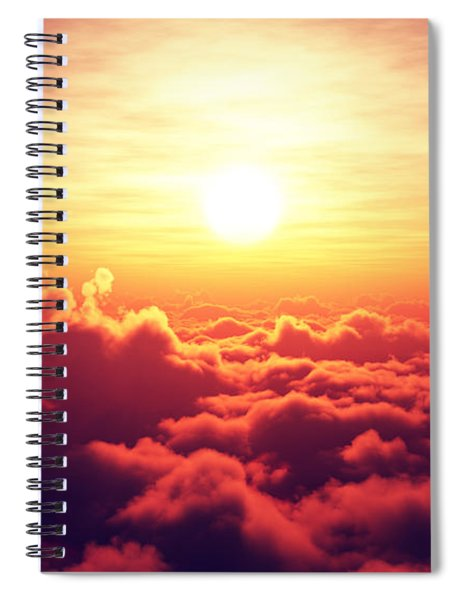 Sunrise Above The Clouds Spiral Notebook