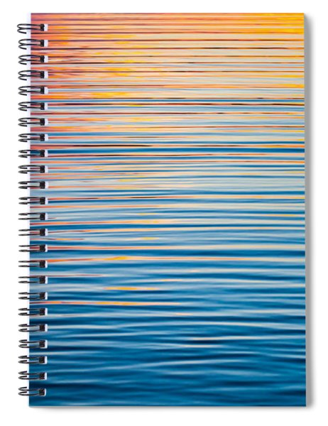 Sunrise Abstract On Calm Waters Spiral Notebook