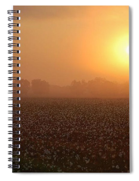 Sunrise And The Cotton Field Spiral Notebook