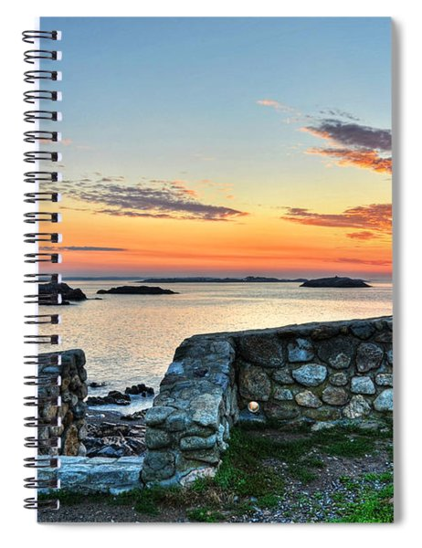 Sunrise At Castle Rock Marblehead Ma Spiral Notebook
