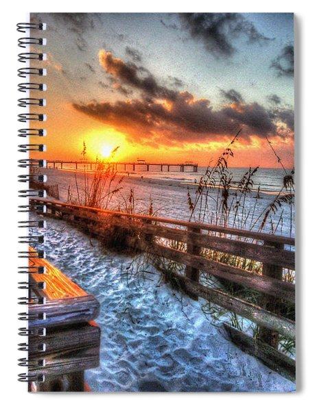Sunrise At Cotton Bayou  Spiral Notebook