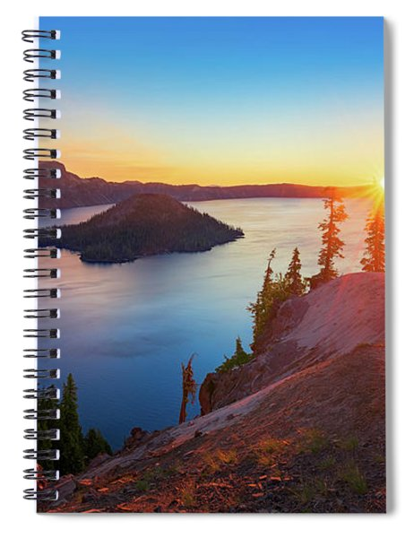 Sunrise At Crater Lake Spiral Notebook