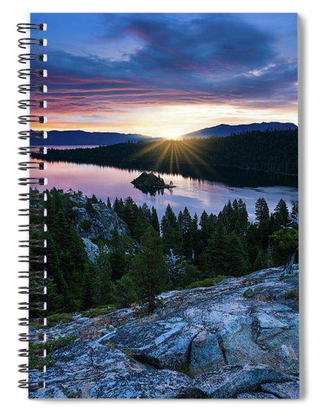 Sunrise Over Emerald Bay In Lake Tahoe Spiral Notebook
